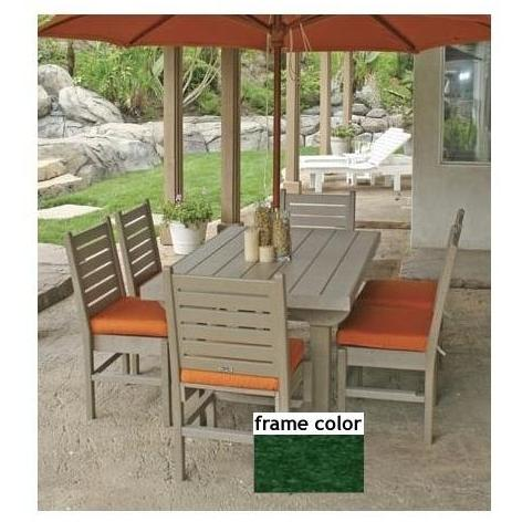 Eagle One Recycled Plastic Cape Cod 60 Inch Patio Dining Set - Green