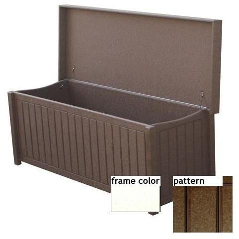 Eagle One Recycled Plastic Sydney Big Deck Box New England Pattern - White