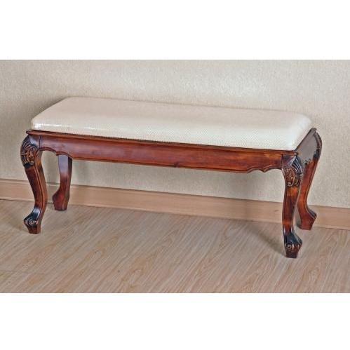International Caravan Carved Wood Foot Of Bed Bench - 3885