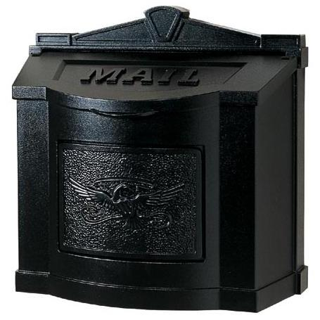Wall Mount Series Mailbox W/ Eagle Accent - All Black