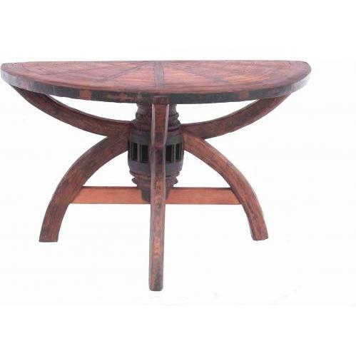 Groovy Stuff Teak Wood Half-Wagon Console Table - TF-723