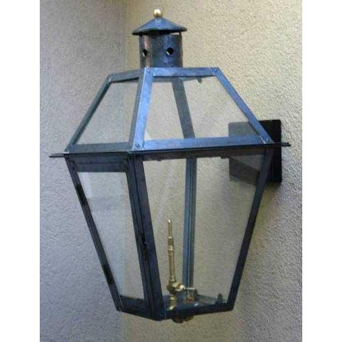 Regency GL22 Chalmette Natural Gas Light With Open Flame Burner And Electronic Ignition On Decorative Wall Mount