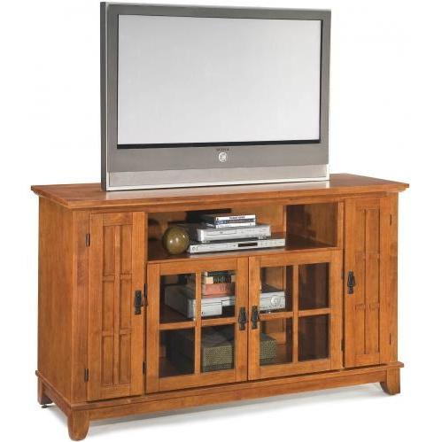 Home Styles Arts And Crafts Entertainment Credenza - Cottage Oak - 5180-10