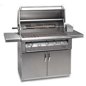 Alfresco AGBQ Classic 42 Inch Natural Gas Grill On Cart With Sear Zone And Rotisserie