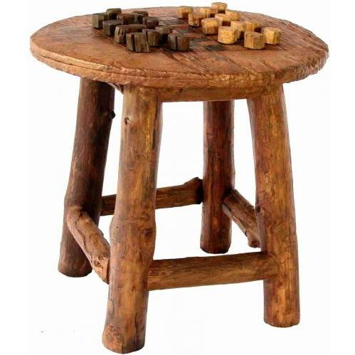 Groovy Stuff Teak Wood Waco Wheel Game / Lounge Table - TF-770