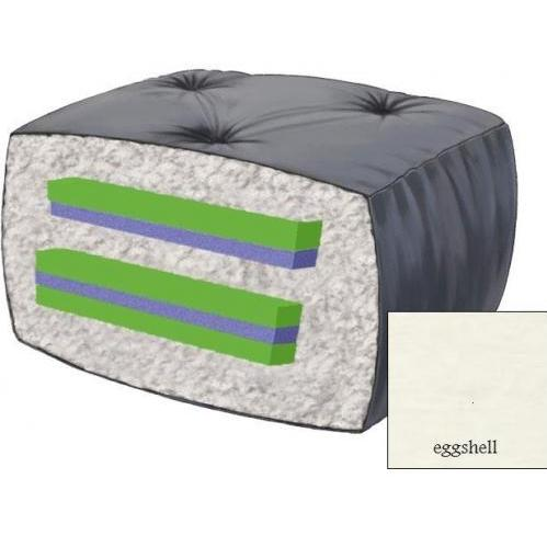 10 Inch Blazing Needles Futon Mattress - Eggshell - DS-9608 - Eggshell