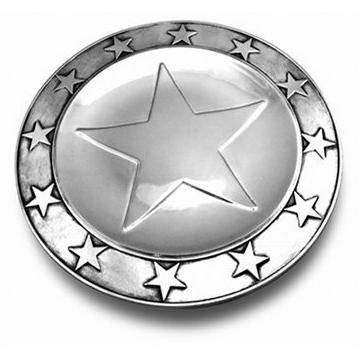 Wilton Armetale Stars Large Round Tray /Polished/bx - 424712
