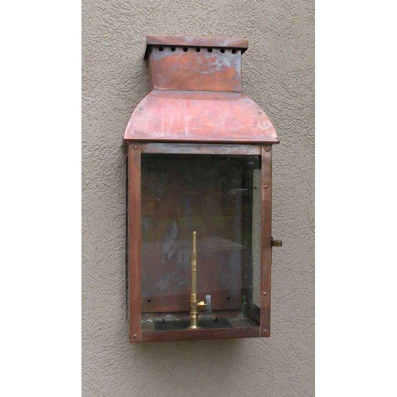 Regency GL31 Flambeau Natural Gas Light With Open Flame Burner And Electronic Ignition On Wall Mount