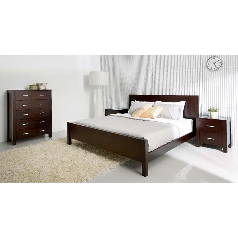 Abbyson Living Porter 4PC Cal-King Bedroom Set Cappucino HM-5000-CK4