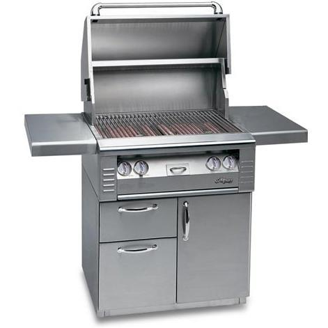 Alfresco AGBQ Classic 30 Inch Builder Natural Gas Grill On Deluxe Cart