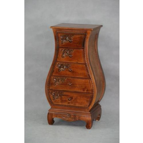 International Caravan Carved Wood Bombay Chest With Drawers - 3865