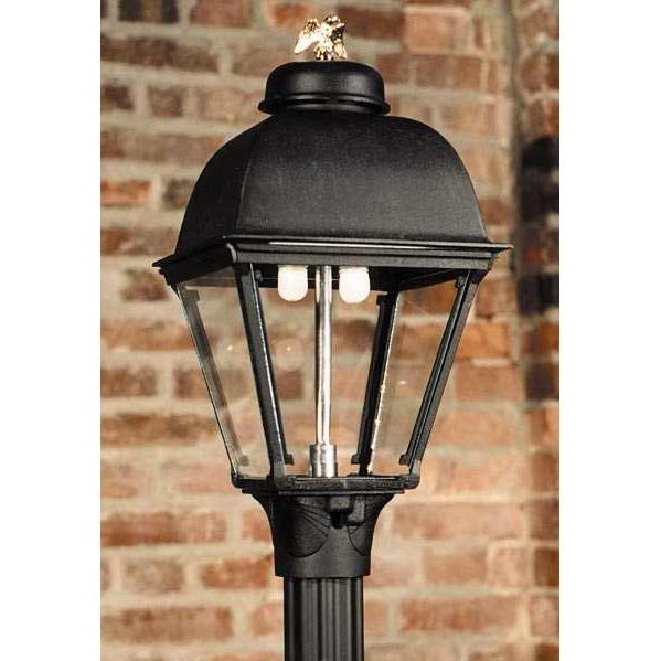 Gaslite America GL2000 Cast Aluminum Manual Ignition Natural Gas Light With Dual Mantle Burner For Post Mount