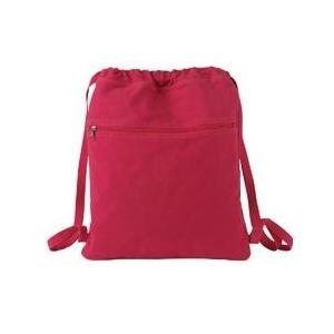 Authentic Pigment Pigment-Dyed Canvas Cinch Sack - Poppy