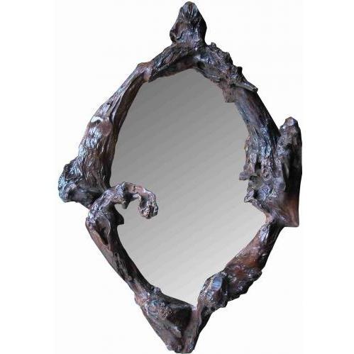 Groovy Stuff Teak Wood Jericho Mirror - TF-721