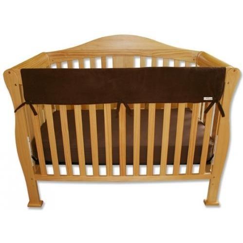 Trend Lab Wide Crib Rail Guard 51 Inch - Brown Fleece