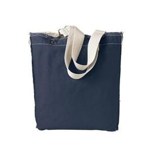 Authentic Pigment Direct-Dyed Raw-Edge Tote - Deep Navy