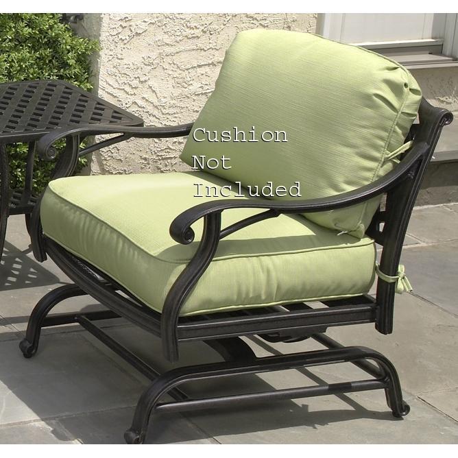 Alfresco Home Long Cove Deep Seating Motion Lounge Chair - Antique Fern