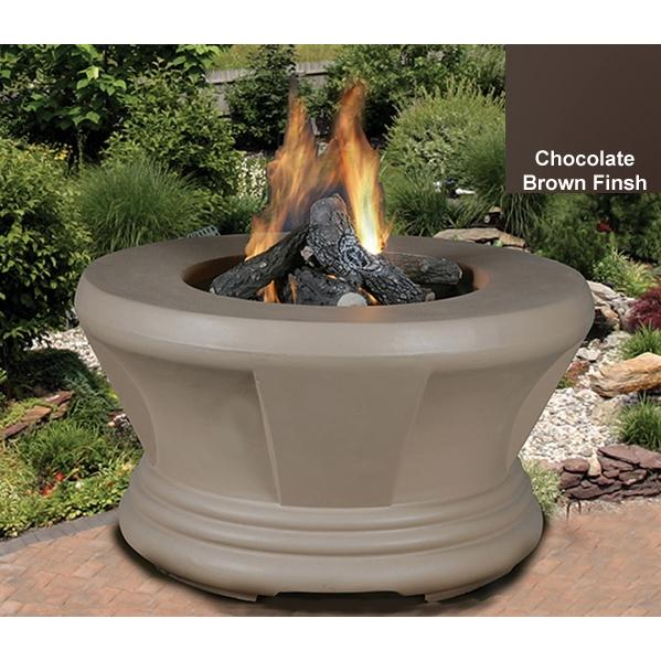California Outdoor Concepts Cardiff Chocolate Brown Fire Pit