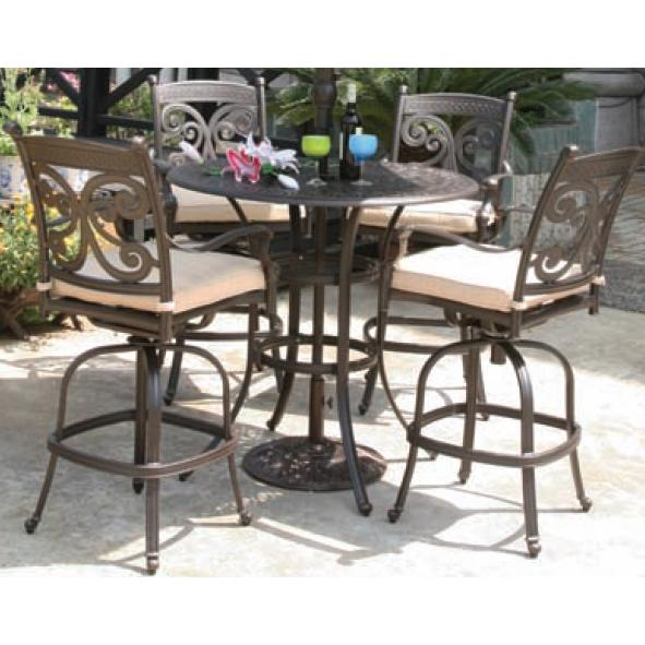Alfresco Home Farfalla 42 Inch Round Bar Set - Antique Wine
