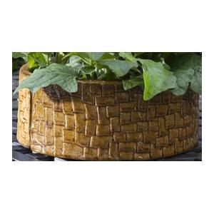Alfresco Home Cobblestone Umbrella Planter - Terra Gold (2 Halves)