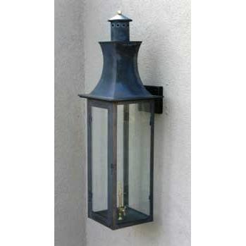 Regency GL38 Presidente Natural Gas Light With Open Flame Burner And Electronic Ignition On Wall Mustache Mount