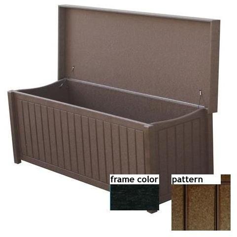 Eagle One Recycled Plastic Sydney Big Deck Box New England Pattern - Black