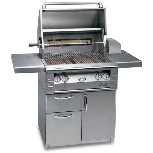 Alfresco AGBQ Classic 30 Inch Natural Gas Grill On Deluxe Cart With Rotisserie