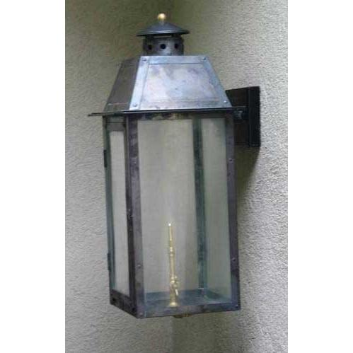 Regency GL25 Monroe Rue Natural Gas Light With Open Flame Burner And Electronic Ignition On Decorative Corner Wall Mount