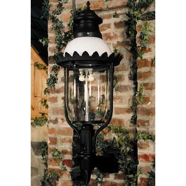 Gaslite America GL48 Cast Aluminum Manual Ignition Natural Gas Light With Open Flame Burner And Standard Wall Mount