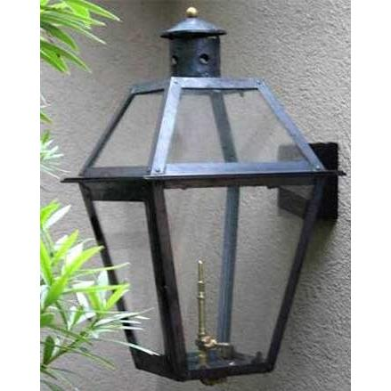 Regency GL18 Beaumont Natural Gas Light With Open Flame Burner And Manual Ignition On Ceiling Basket Mount
