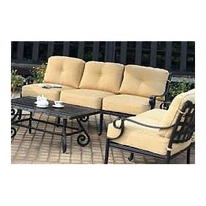 Alfresco Home Chateau Deep Seating Sofa - Antique Topaz
