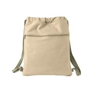 Authentic Pigment Pigment-Dyed Canvas Cinch Sack - Putty