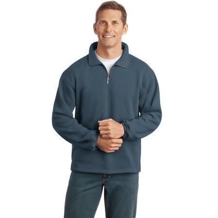 Port Authority Signature Sueded Finish 1/4-Zip Sweatshirt 2XL - Steel Blue