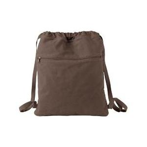 Authentic Pigment Pigment-Dyed Canvas Cinch Sack - Java