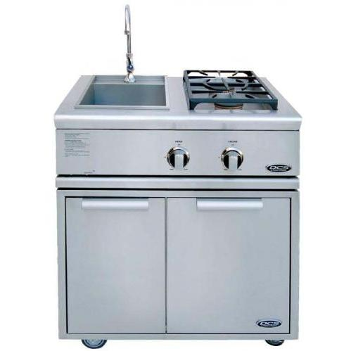 DCS BFG30BSN Liberty Natural Gas Side Burner And Sink On Cart