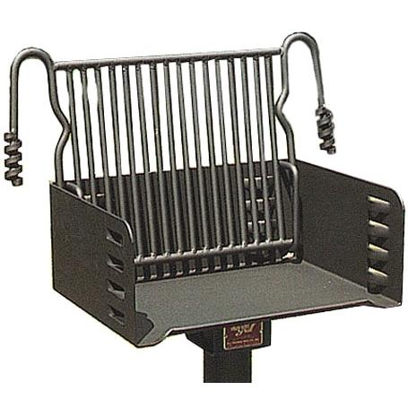 BBQ Guys Campground BBQ Charcoal Grill On Post - J-20 B2