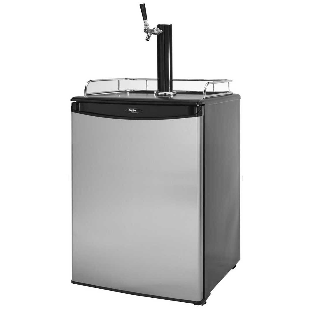 Cal Flame BBQ09843B Beer Tap Refrigerator - Black Top / Stainless Steel Cabinet