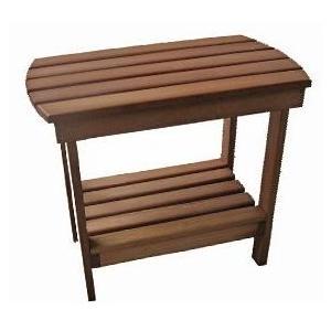 International Caravan Acacia Wood Side Table - Stain - OL-005-ST