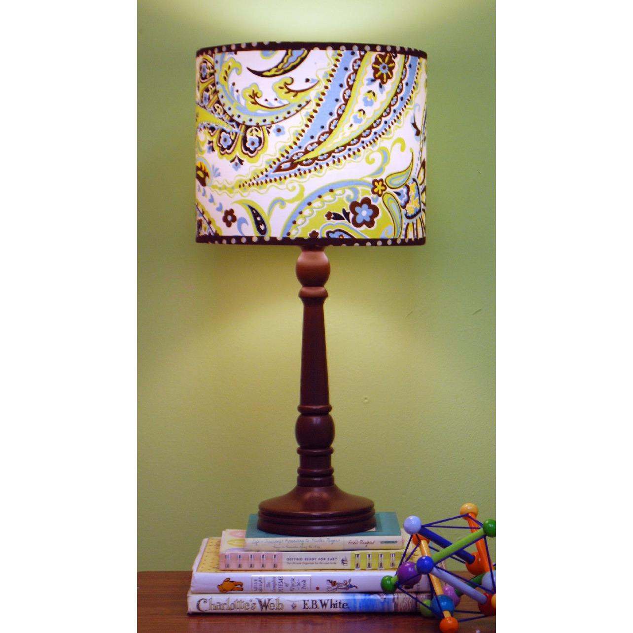 My Baby Sam Lamp - Lime Paisley Splash