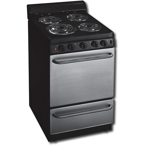Premier EAK600BP 20 Inch Electric Range With 4 Inch Back-guard And Stainless Front