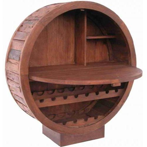 Groovy Stuff Teak Wood Trail Boss Wine Cabinet / Bar - TF-695