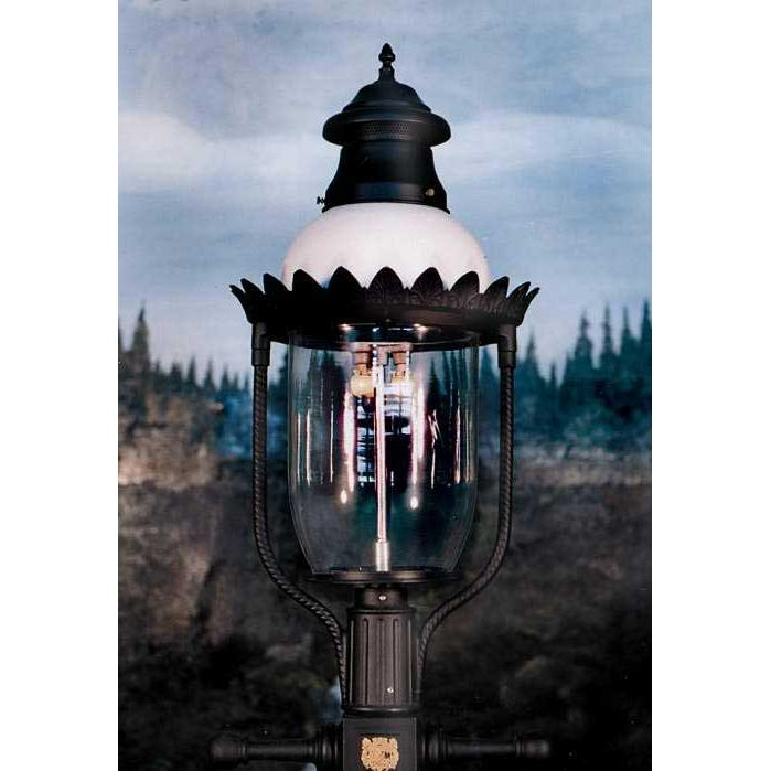 Gaslite America GL48 Cast Aluminum Manual Ignition Natural Gas Light With Open Flame Burner For Post Mount