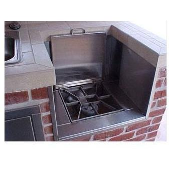 Texas Barbecues Recessed Drop-Down Side Burner NG
