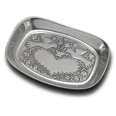 Wilton Armetale Lovebirds Small Bread Tray