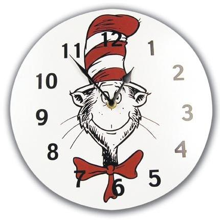 Trend Lab Wall Clock - Dr Seuss Cat In The Hat