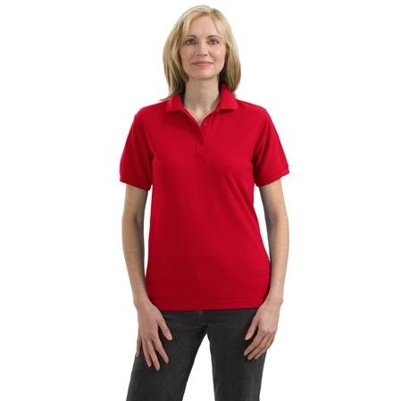 Port Authority Ladies Silk Touch Sport Shirt L - Red