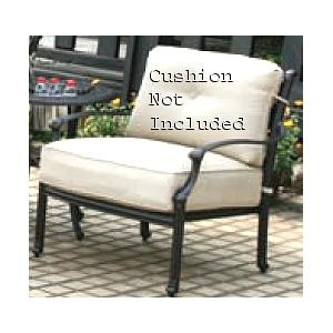 Alfresco Home Farfalla Deep Seating Lounge Chair Frame - Antique Wine