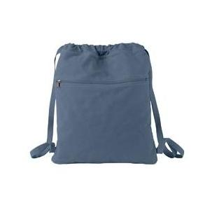 Authentic Pigment Pigment-Dyed Canvas Cinch Sack - Denim