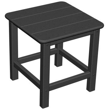 Poly-Wood Recycled Plastic Wood Seashell Adirondack End Table - 18 Inch Square