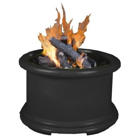 California Outdoor Concepts Island Series Black Fire Pit